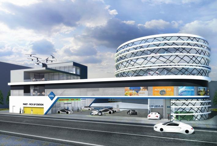 """Aral Studie """"Tankstelle der Zukunft"""": Mobilitätstrends 2040 eröffnen Tankstellen neue Geschäftsfelder"""