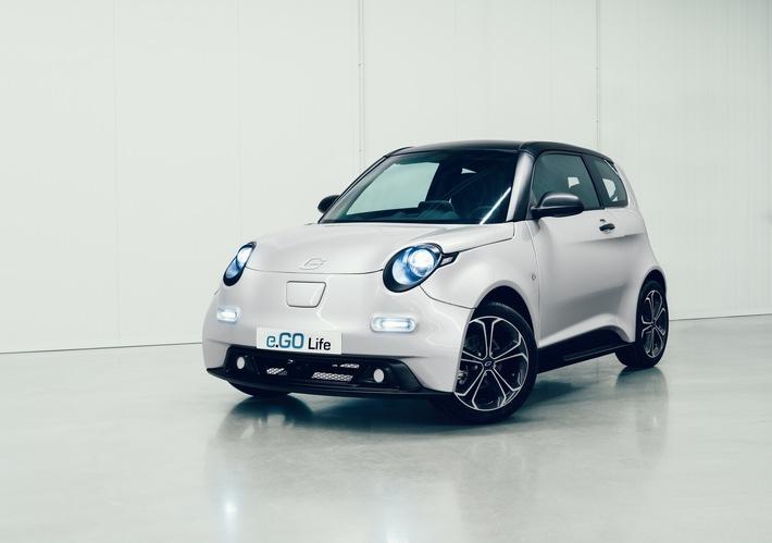 Elektroauto: Erste Vorserienversion des e.GO Life vorgestellt e.GO zeigt erstmalig das Komplettfahrzeug