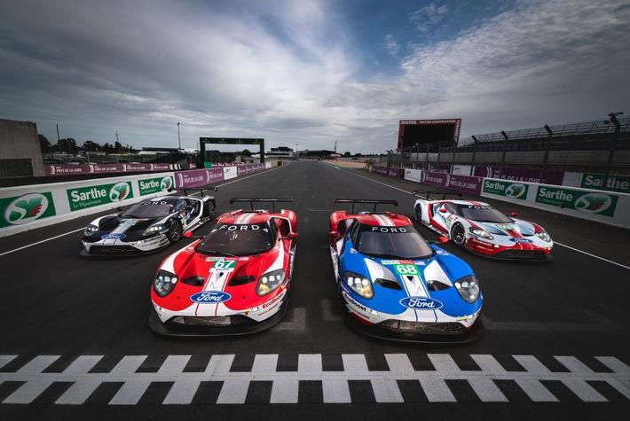 Ford schickt fünf Ford GT in die 24-Stunden-Schlacht von Le Mans