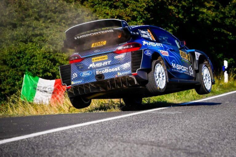 Ford Fiesta WRC-Pilot Teemu Suninen bei der Rallye Deutschland schnell, aber glücklos