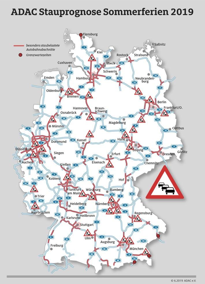 Geduldsspiel auf den Autobahnen hält an Mehrstündige Zwangsstopps auf der Heimreise realistisch ADAC Stauprognose für 9. bis 11. August