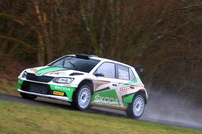 Härtetest für Meisterschafts-Spitzenreiter Fabian Kreim bei der Rallye 'Rund um die Sulinger Bärenklaue'