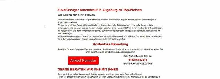 Autoankauf Osnabrück kauft alle Marken an
