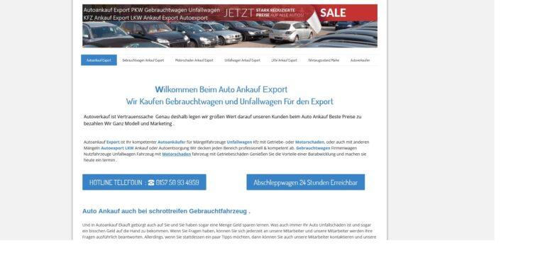 kfz-ankauf-export.de | Autoankauf Würzburg auch mit Motorschaden