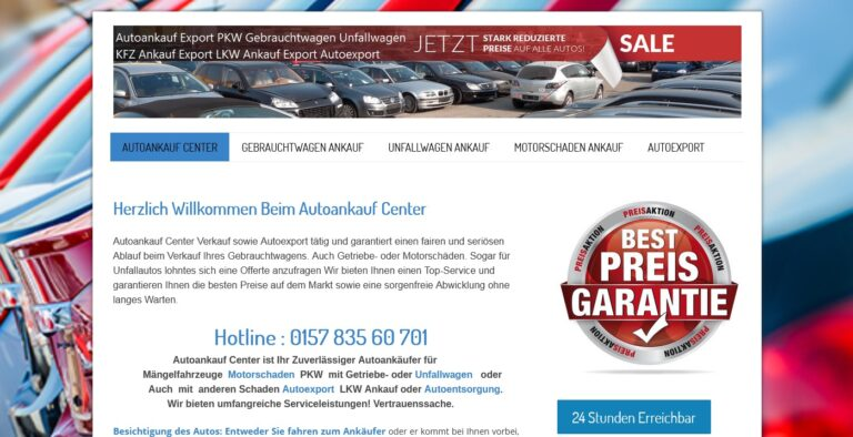 Autoankauf Unna – Auto verkaufen in Unna zum Höchstpreis