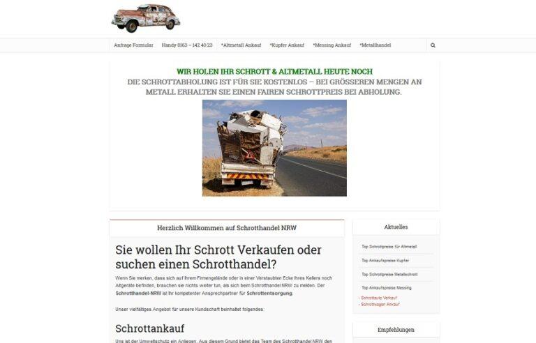 Schrotthändler in Düsseldorf | SchrottAnkauf: Sofort Bargeld für Ihr Schrott