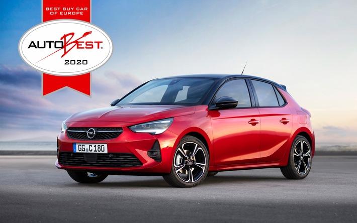 """Best Buy Car of Europe 2020"": Neuer Opel Corsa und Corsa-e gewinnen AUTOBEST-Award"