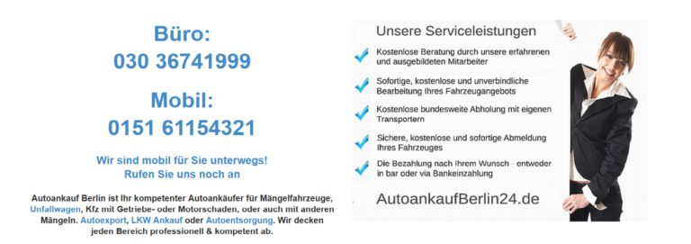 Autoankauf Berlin – Wir kaufen Ihren PKW!