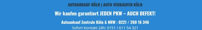 Autoankauf Köln – Auto verkaufen leicht gemacht