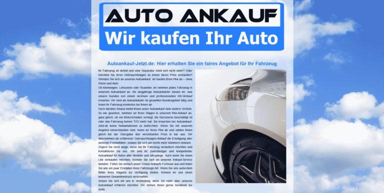 Autoankauf Altenburg – Autoankauf Jetzt – Gebrauchtfahrzeug in Altenburg zu verkaufen
