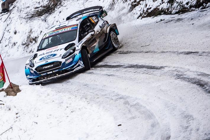 Schnee oder nicht – bei der WM-Rallye Schweden hat M-Sport Ford die Spitzenplätze im Visier