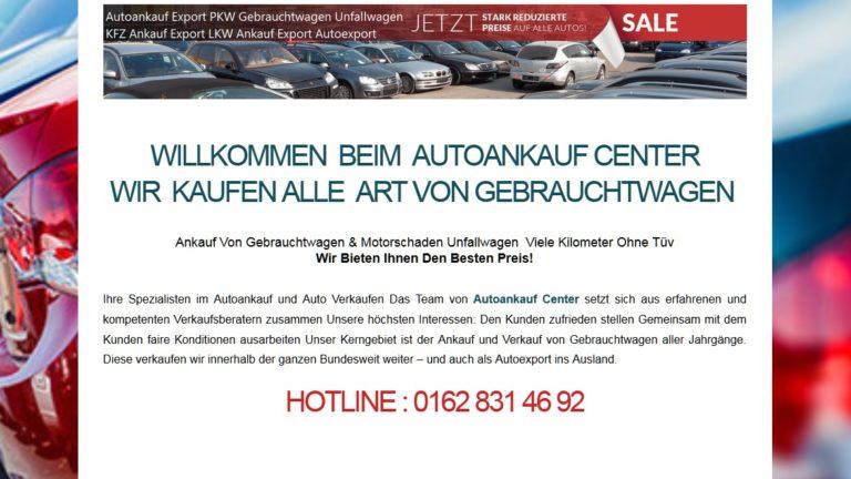 Autoankauf Center :  Ankauf Von Gebrauchtwagen & Motorschaden Unfallwagen
