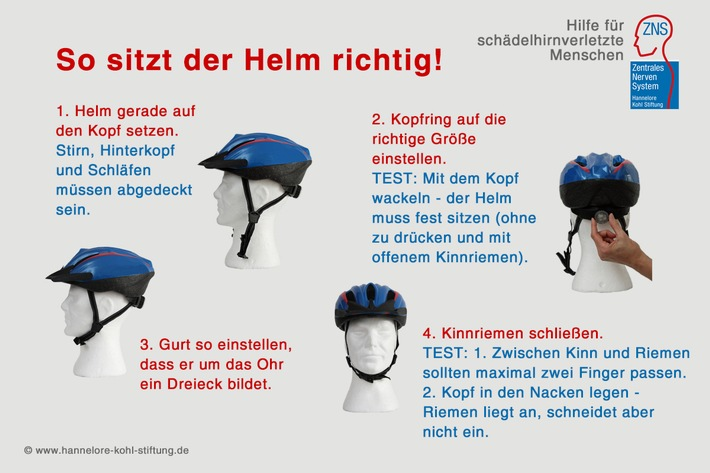 Ein Helm kann Leben retten / Auch in Corona-Zeiten sollten Radfahrer nicht leichtsinnig sein