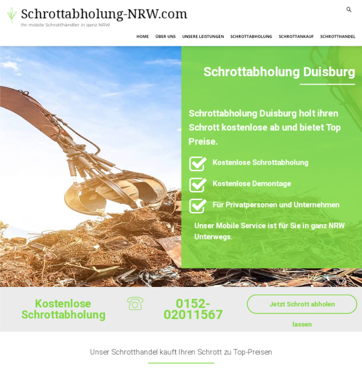 Schrottabholung Duisburg : Unser Schrotthandel kauft Ihren Schrott zu Top-Preisen