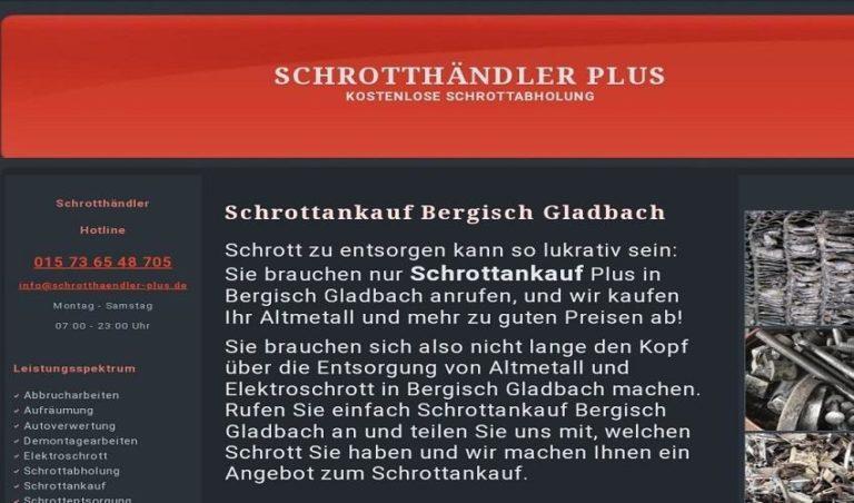 Wir Kaufen Altmetall und Schrott von Ihrem Standort in Bergisch Gladbach