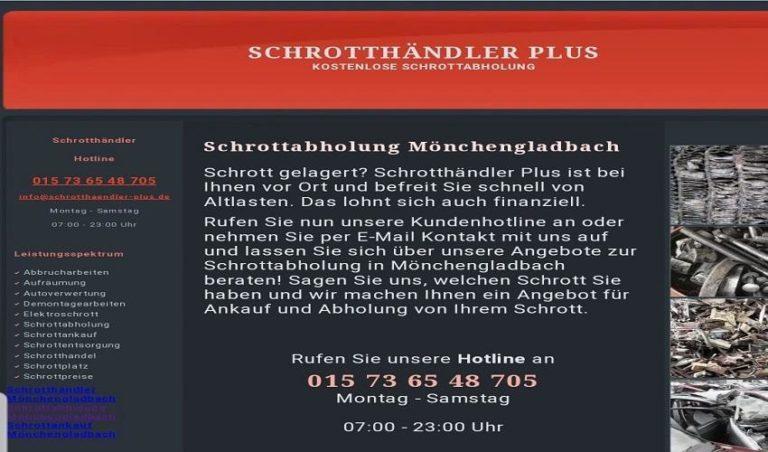 In Mönchengladbach und Umgebung: Kostenlos Schrottabholung, schneller Service