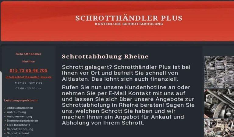 Wir holen Ihren Schrott kostenlos ab in Rheine Für private Haushalte/ Gewerbe