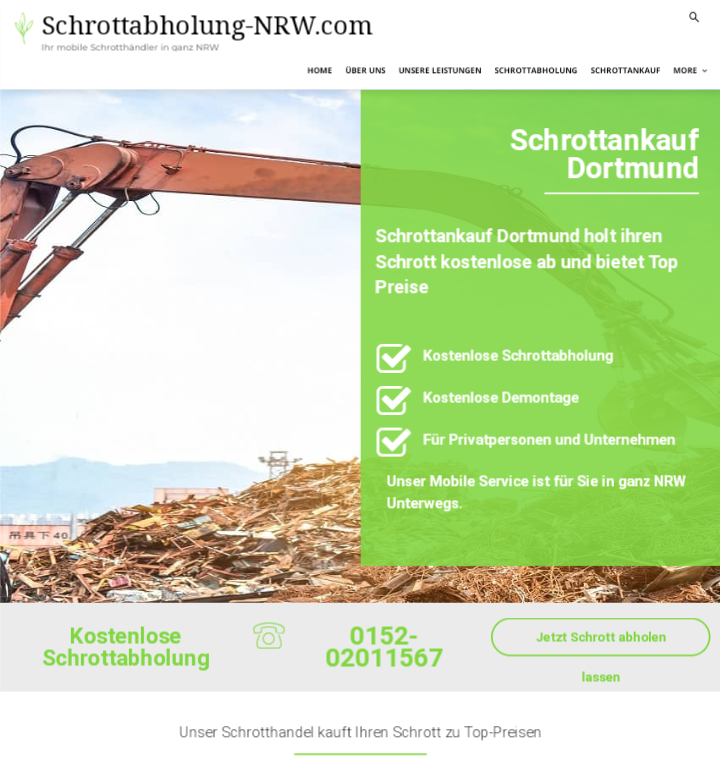 Der Schrottankauf Dortmund kauft Ihren Metall- und Elektroschrott an
