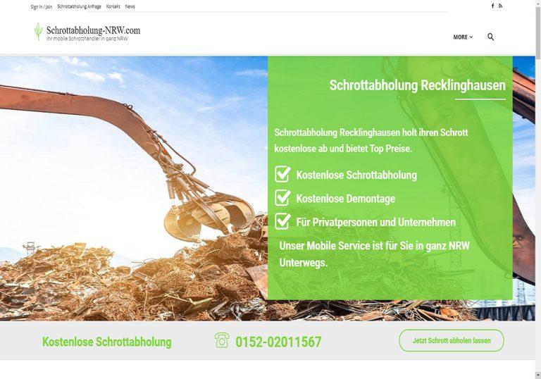 Schrottabholung Recklinghausen holen Ihren Metall- und Elektroschrott ab