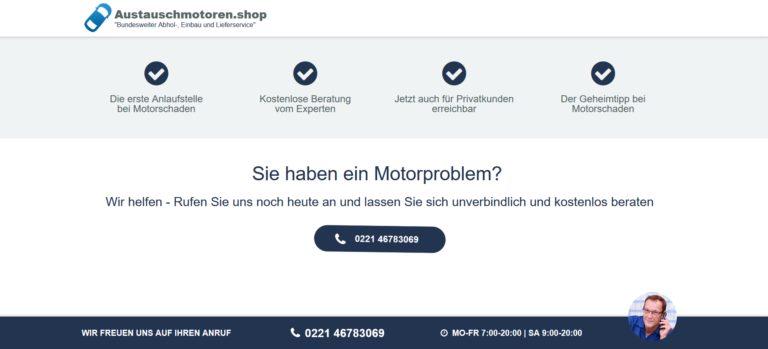 Motoreninstandsetzung :  24 Monate Garantie und Gewährleistung