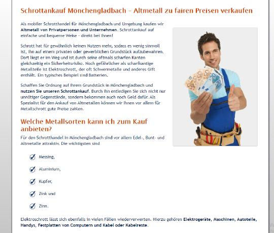 Schrottankauf in Mönchengladbach nimmt Schrott von Jedermann entgegen