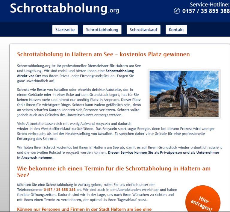 Schrottabholung in Haltern am See kostenfrei abgeholt