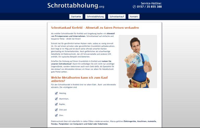 Schrottankauf in Krefeld schnelle Abwicklung und bester Preis