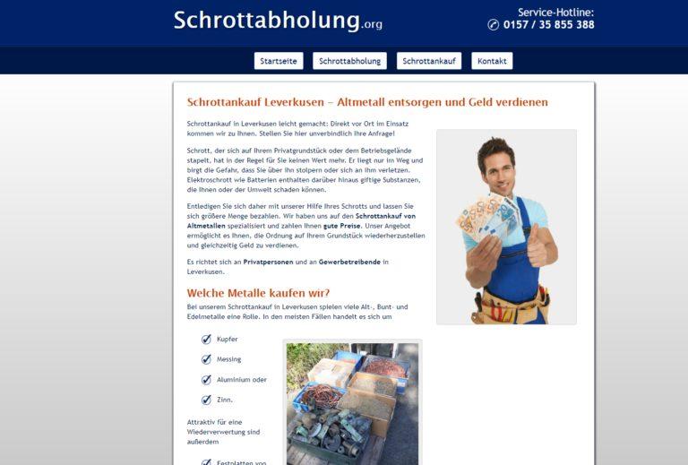 Recycling von Altmetall – Schrottankauf Leverkusen über Schrottabholung.org