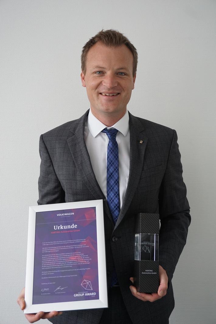 HARTING Automotive mit Volkswagen Group Award 2020 ausgezeichnet