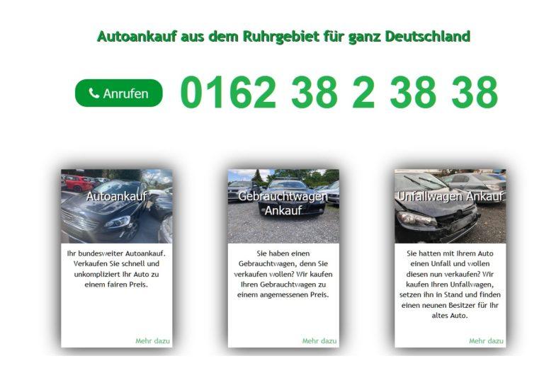 Autoankauf Thüringen: Auto Ankauf von Gebrauchtwagen