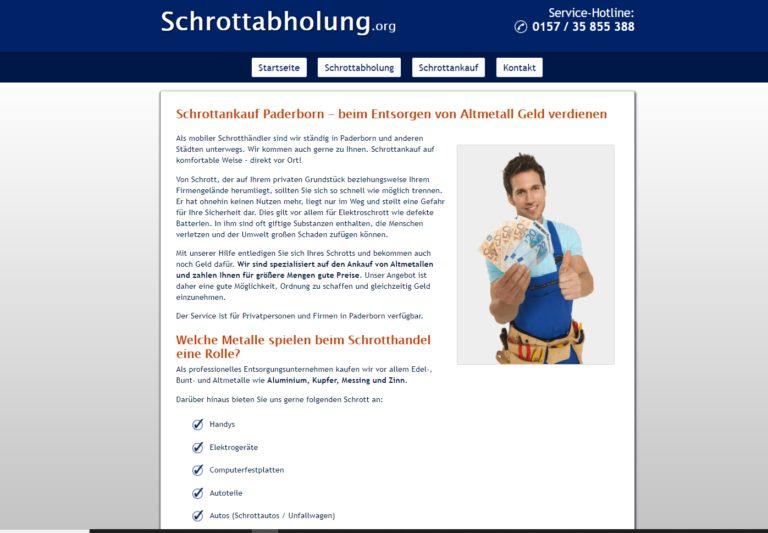 Schrottankauf in Paderborn schnelle Abwicklung und bester Preis