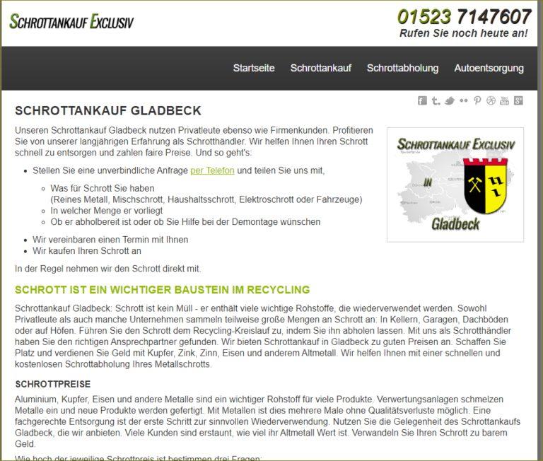 Schrottankauf Gladbeck ist der perfekte Ansprechpartner für die Abholung von Altmetallen