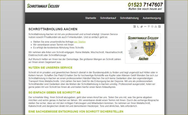 Schrottabholung in Aachen – kostenlos – kompetent – fair Schrottankauf-Exclusiv