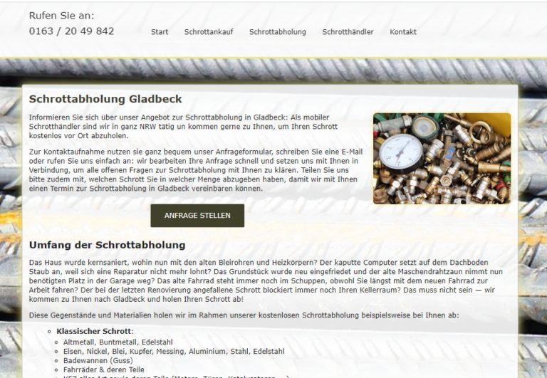 Schrottabholung Gladbeck – Schrott-Ankauf-NRW