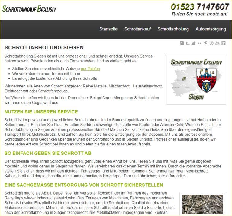 Die Schrottentsorgung und Schrottabholung Siegen von Schrottankauf-Exclusiv