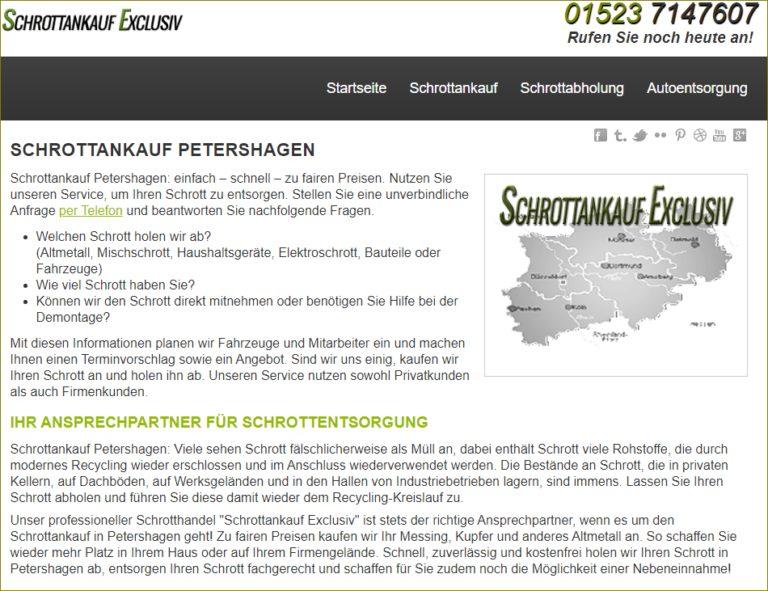 Schrottankauf für Petershagen ist denkbar schnell organisiert von Schrottankauf Exclusiv