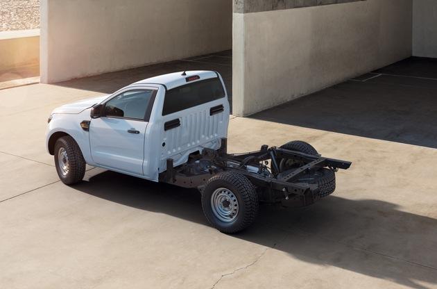 Neu: Ford Ranger als Fahrgestell-Variante – geländetaugliches Basisfahrzeug für maßgeschneiderte Aufbauten