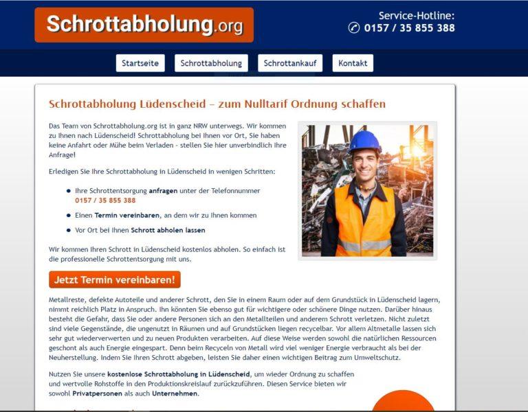Das Team der Schrottabholung Lüdenscheid sind Experten