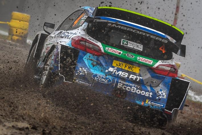 Der Ford Fiesta WRC beendet die WM-Saison mit einem vierten Platz bei der Rallye Monza