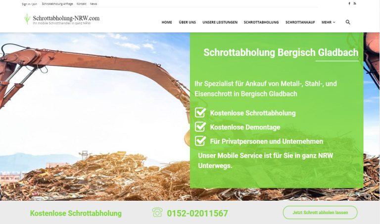 Schrottabholung und Schrottankauf NRW durch Schrottabholung Bergisch Gladbach