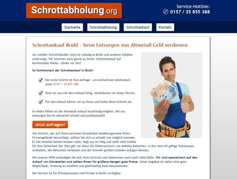 Der Schrottankauf Brühl holt Schrott kostenlos beim Kunden ab
