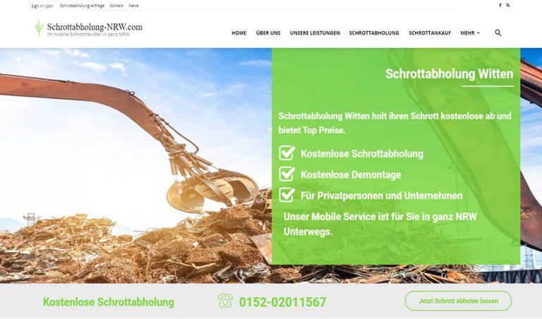 In Witten holen wir ihren Schrott kostenlos ab mit Schrottabholung-NRW
