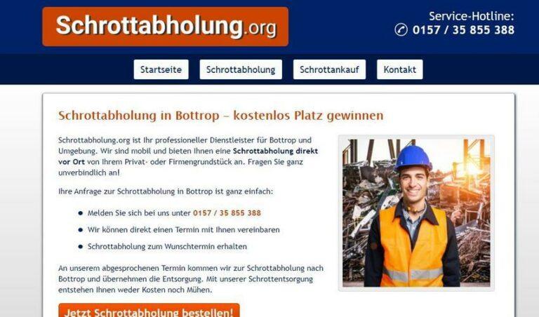 Schrottabholung Bottrop – fachgerechte Schrottentsorgung im Ruhrgebiet