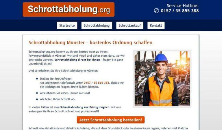Schrott entsorgen in Münster – Abholen ist am einfachsten