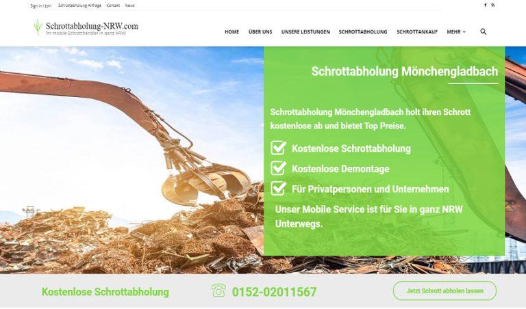 Schrottabholung Mönchengladbach holt ihre Altmetalle und Eisenschrott schnell und zuverlässig