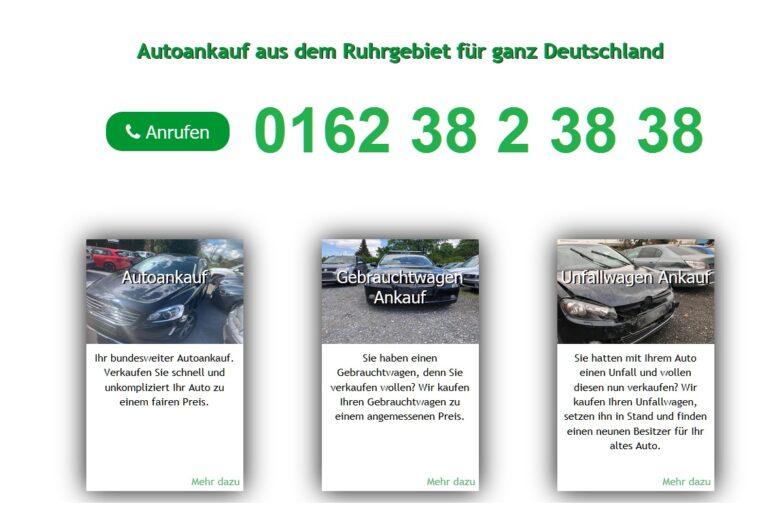 Ihr Autonankauf aus dem Ruhrgebiet für ganz Deutschland. Verkaufen Sie Ihr Auto schnell und sicher und kaufen Sie direkt Ihren neuen Gebrauchtwagen.