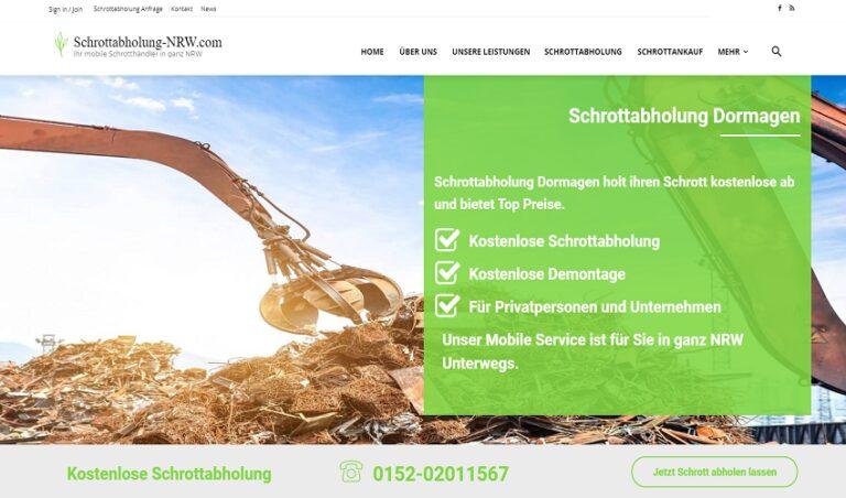 Ein zuverlässiger Schrottabholung Team in Dormagen und ganz NRW mit freundliche Personal