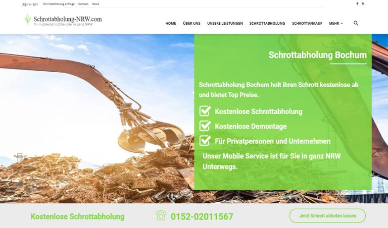 Der Schrottabholung in Bochum ist jeden Tag erreichbar