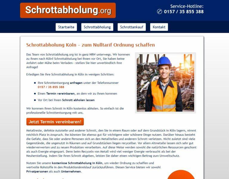 Die Schrottabholung in Köln arbeitet auf einem der ältesten Tätigkeitsfelder der Menschen