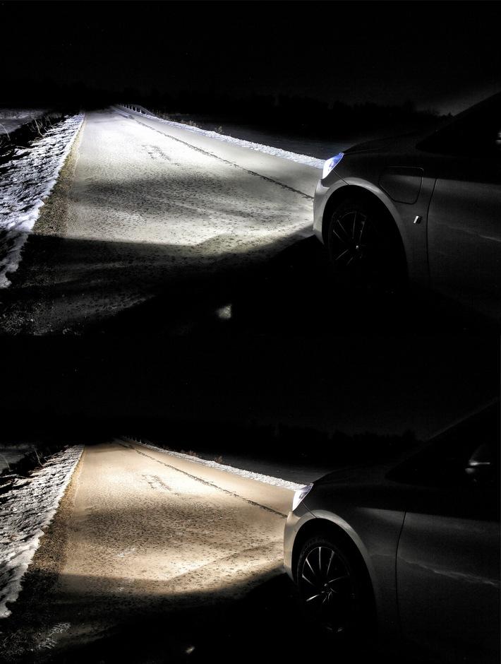 LEDs lassen Scheinwerfer besser leuchten ADAC untersucht erstes in Deutschland zugelassenes LED Retrofit